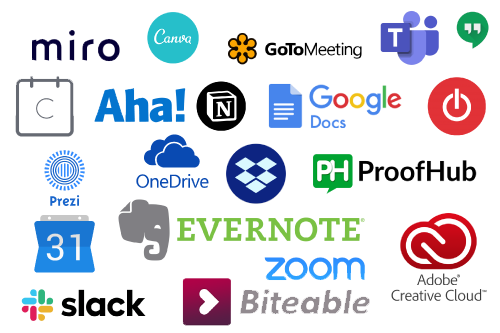 Logos_Remote_Working_Tools_background